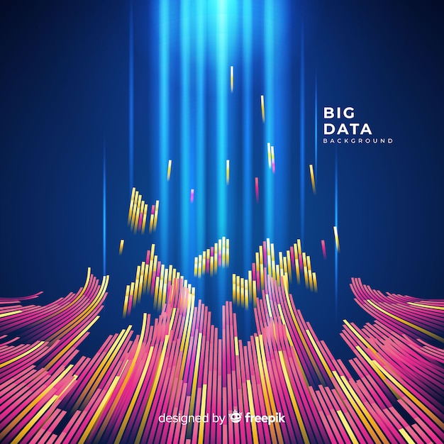 Abstract and shiny big data background Free Vector