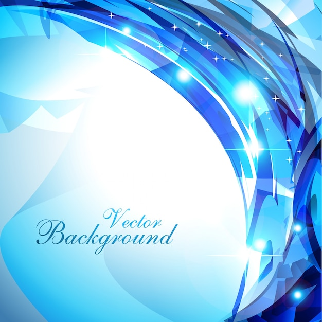 Abstract shiny blue background