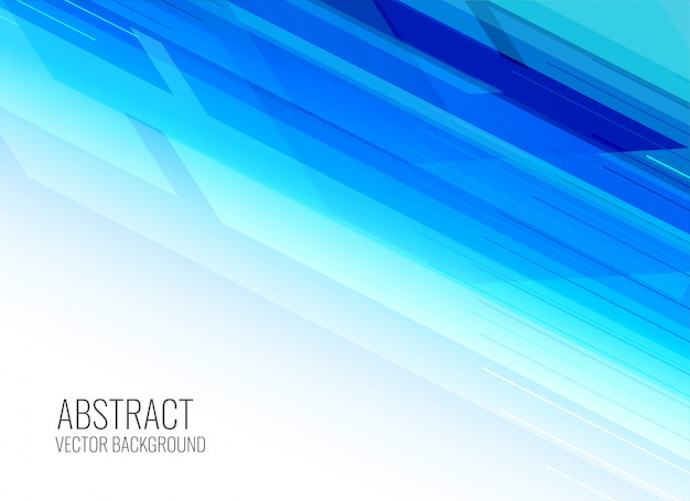 Abstract shiny blue presentation background Free Vector