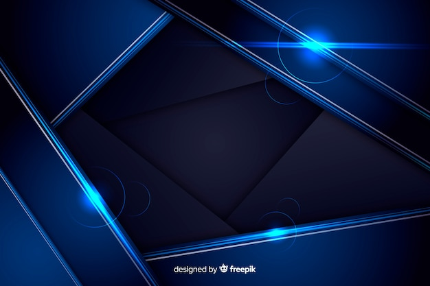 Abstract shiny metallic blue background Free Vector