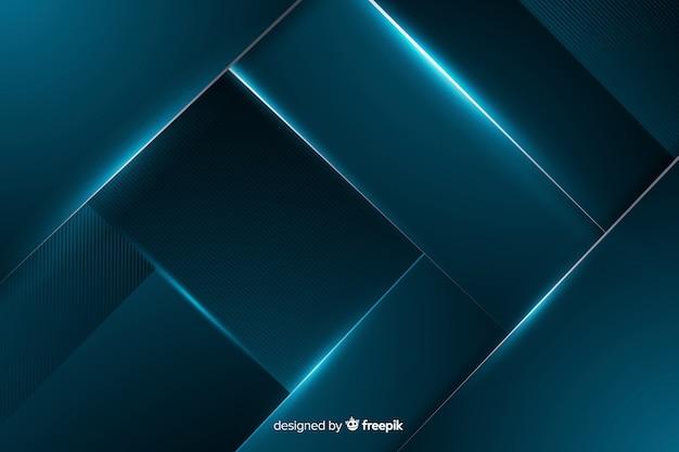 Abstract shiny metallic blue background Premium Vector