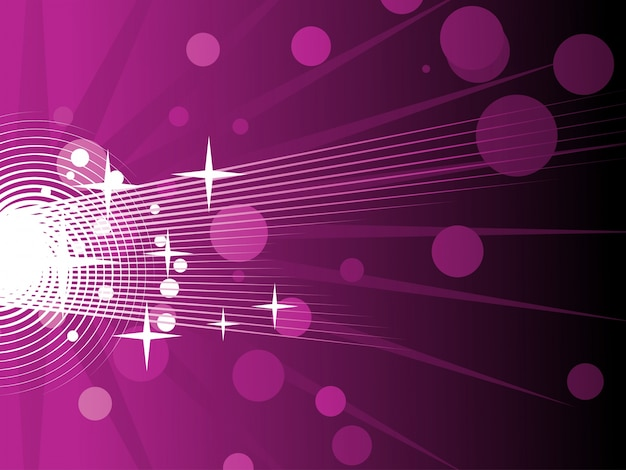 Abstract shiny purple background with circles