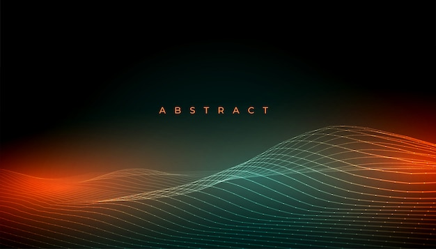 Abstract shiny wave lines background with light effect Free Vector