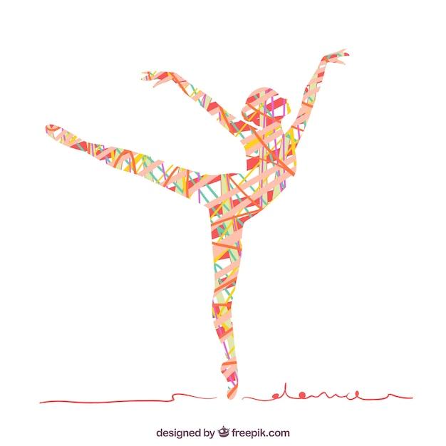 Абстрактный силуэт женщины танцы Бесплатные векторы