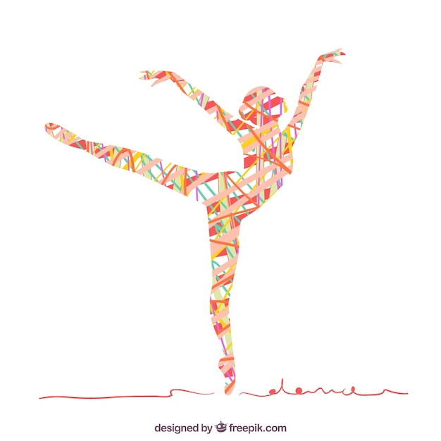 Abstract silhouette of a woman dancing Premium Vector