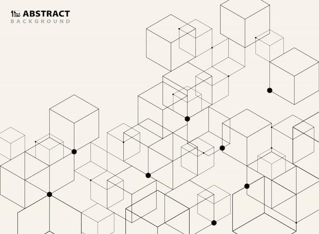 Abstract simple black geometric model background. Premium Vector