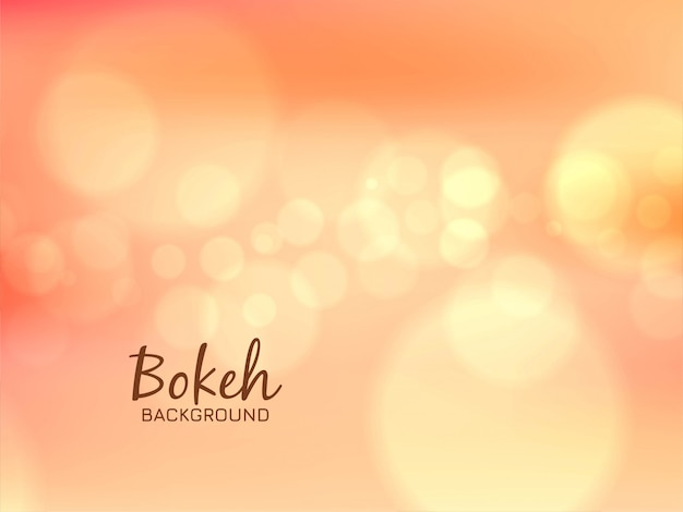 Abstract simple bokeh soft background Free Vector