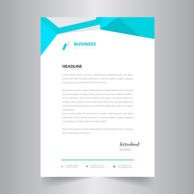 Abstract Simple Business Letter Head Template Premium Vector  Business Letter Heading Template