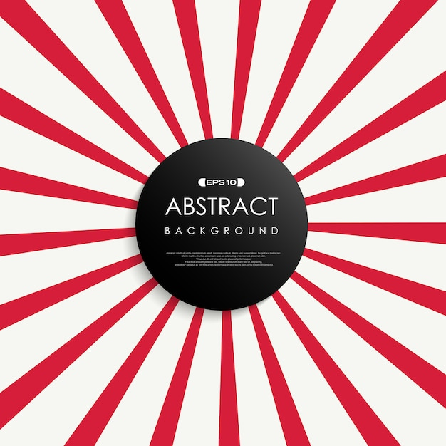 Abstract of simple red sunburst background. Premium Vector