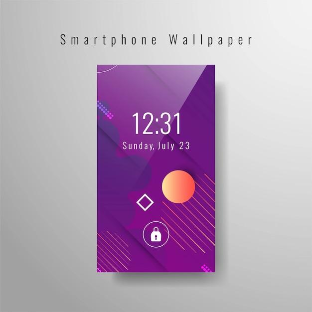 Abstract smartphone wallpaper trendy Premium Vector