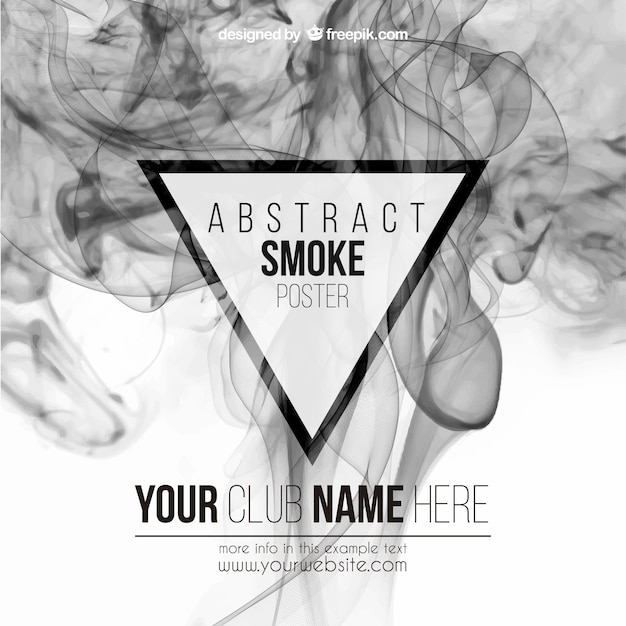 Abstract smoke poster Free Vector