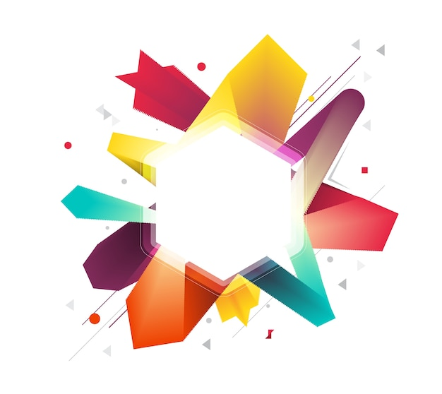 Abstract smooth color explode from center Premium Vector