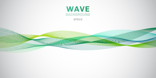 Abstract smooth green waves background. Premium Vector