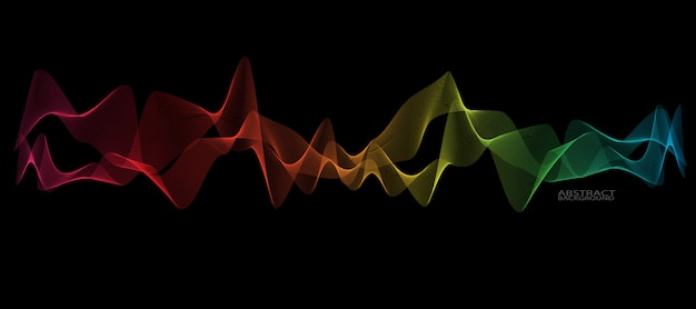Abstract smooth wave line Premium Vector