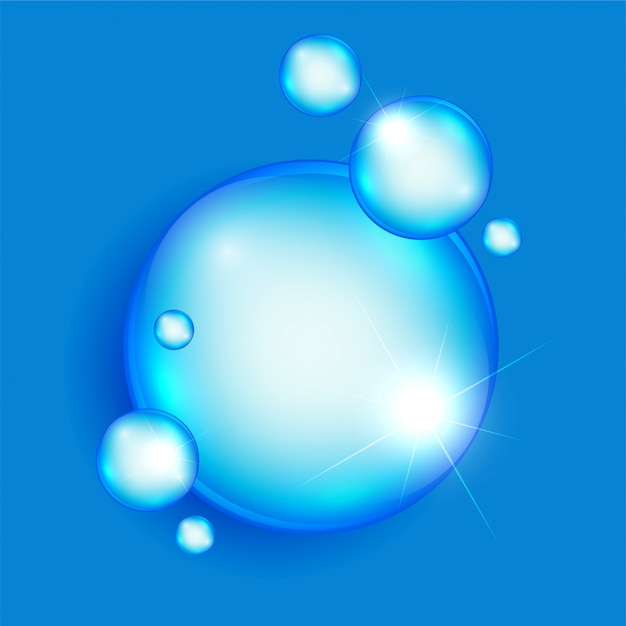 Abstract soap or water bubbles background Free Vector
