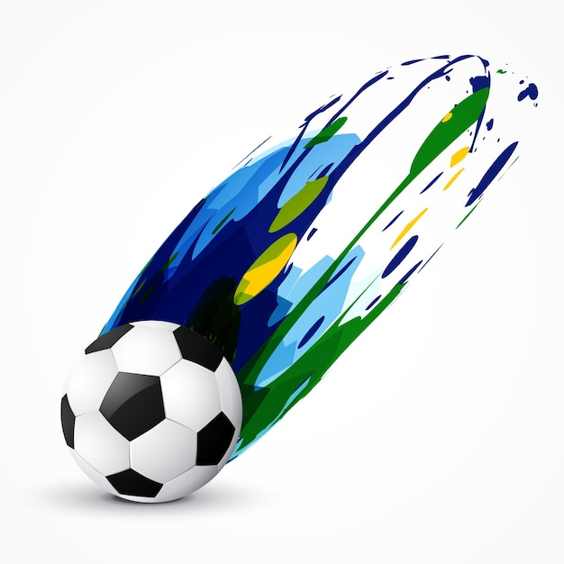 Abstract Soccer Paint Design Vector