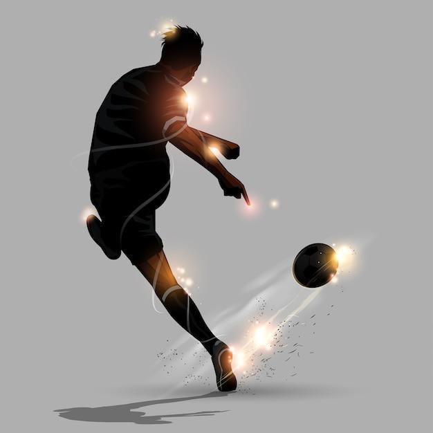 Abstract soccer speed shoot Premium Vector