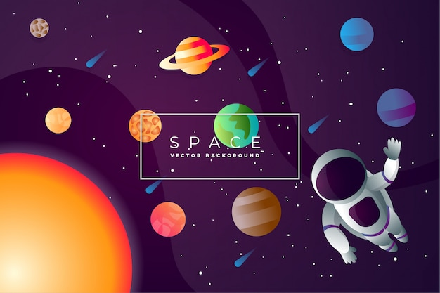 Abstract space exploring background vector Premium Vector