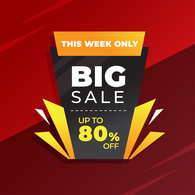 Abstract special sale modern banner Premium Vector