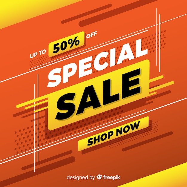 Abstract special sale promotion banner Free Vector