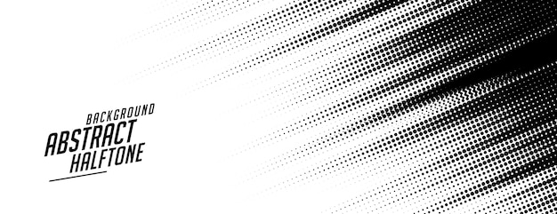 Abstract speed lines style halftone banner design Free Vector