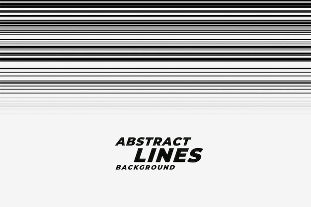 Abstract speed motion lines in black and white backgorund Free Vector