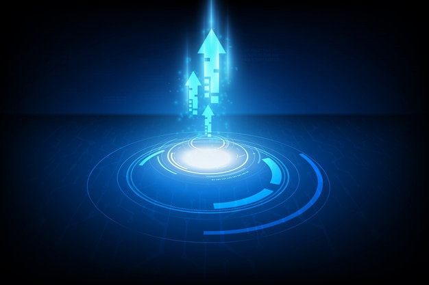 Abstract speed technology concept Premium Vector