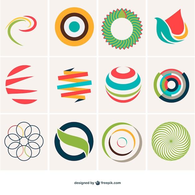 premium vector | abstract sphere logo template  freepik