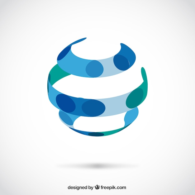 Abstract sphere logo Free Vector