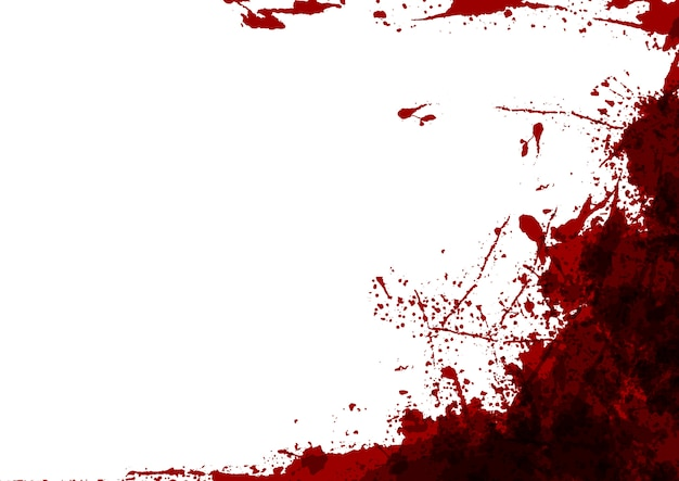 白い色のデザインの背景に抽象的なスプラッタ赤い色。イラストデザイン。 Premiumベクター