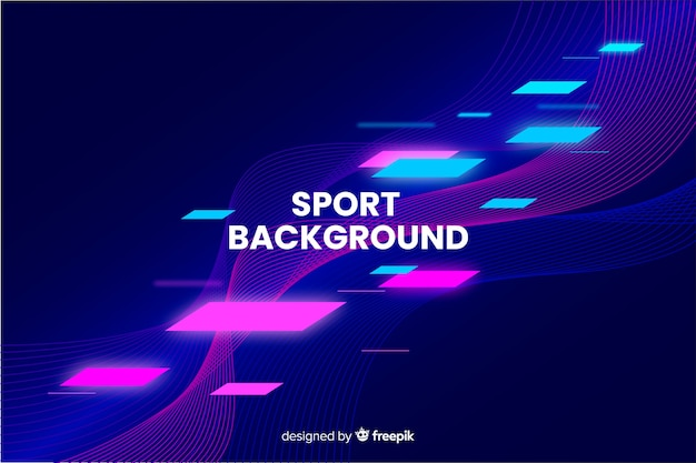 Abstract sport background flat design Free Vector