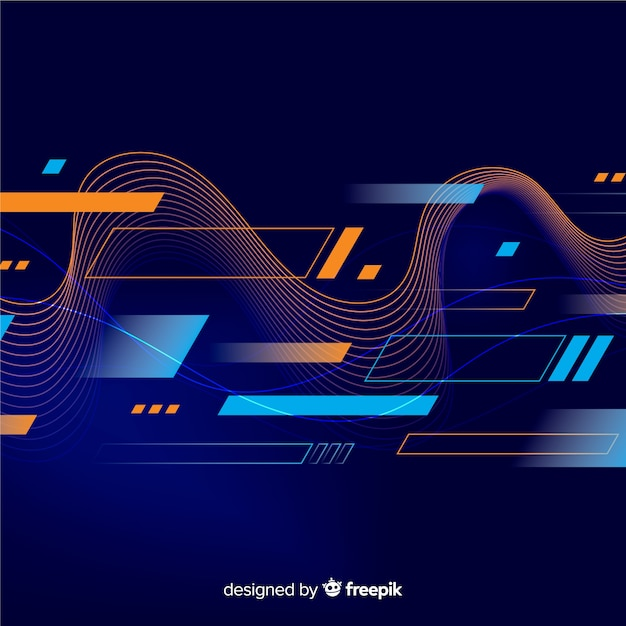 Abstract sport background flat style Free Vector