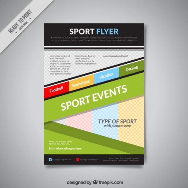 Abstract sport flyer template Vector | Free Download