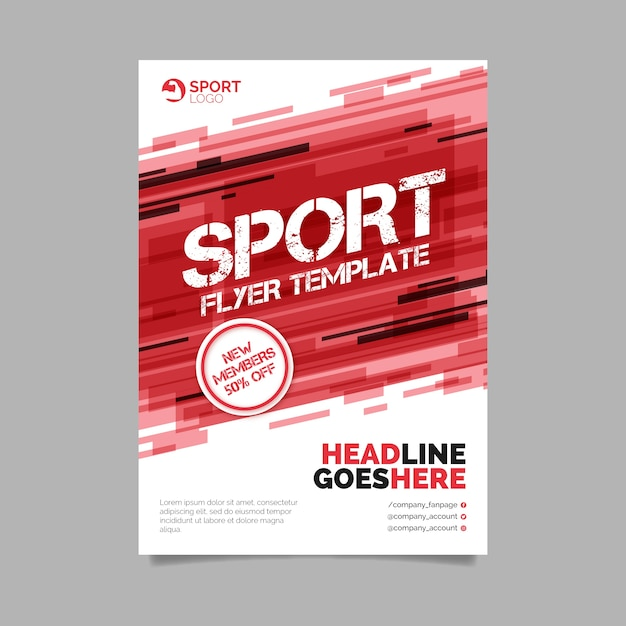 Abstract sport flyer template Free Vector