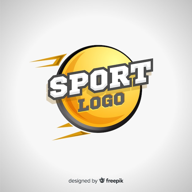 Abstract sports logotype template Free Vector