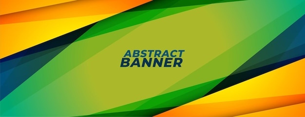 Абстрактный спортивный стиль баннер с геометрическими фигурами Бесплатные векторы