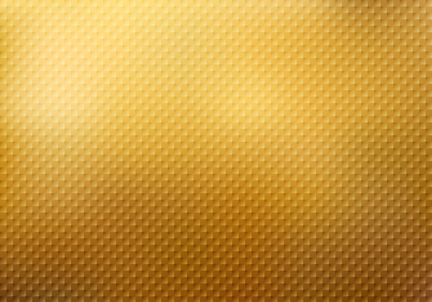 Abstract squares pattern texture on gold background Premium Vector