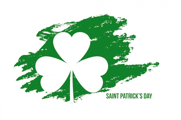 Abstract st patricks day grunge style background Free Vector