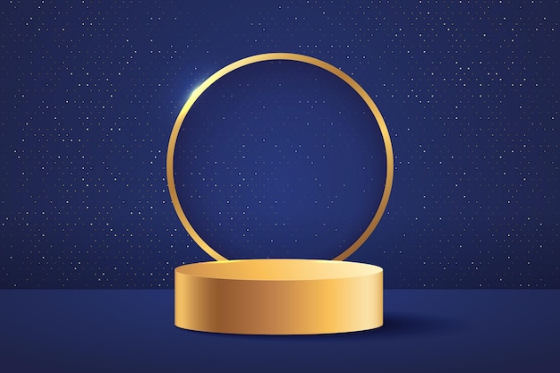 Abstract stage for awards in modern. Premium Vector