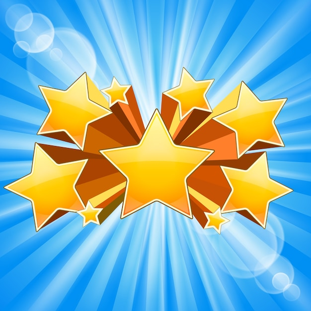 Abstract star burst with rays flare Free Vector