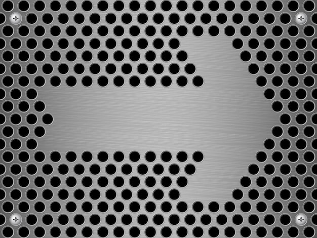 Abstract steel wall vector background and arrow sign Premium Vector