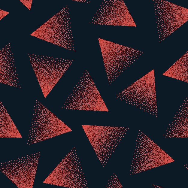 Abstract stippled seamless pattern Premium Vector