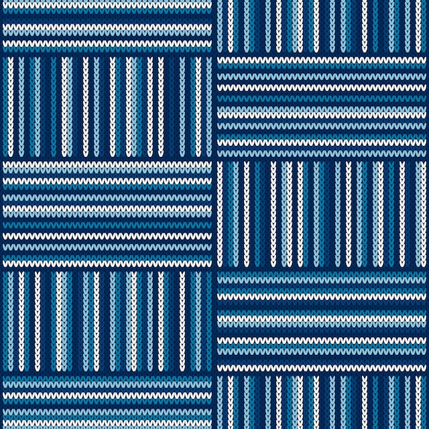 Abstract striped knitted pattern Premium Vector