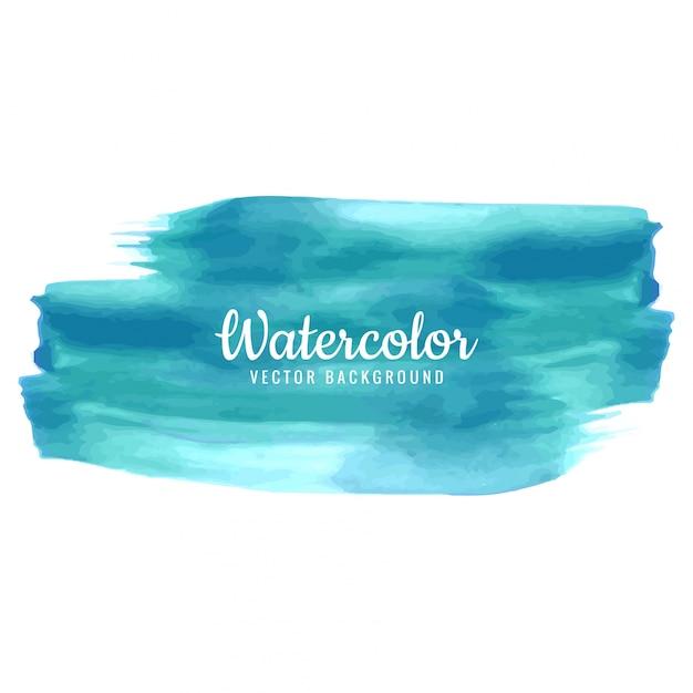 Abstract stroke watercolor design Free Vector