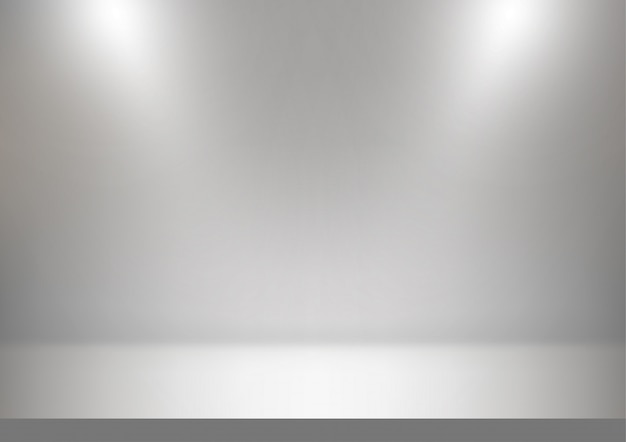 Abstract studio, white and gray background Premium Vector
