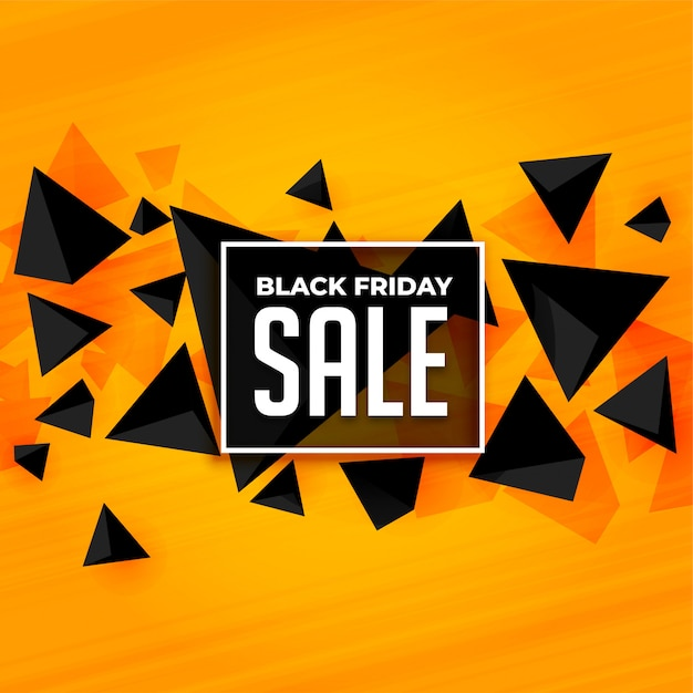 Abstract style black friday sale banner template Free Vector