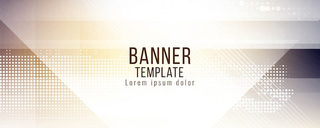 Abstract stylish banner vector design Free Vector