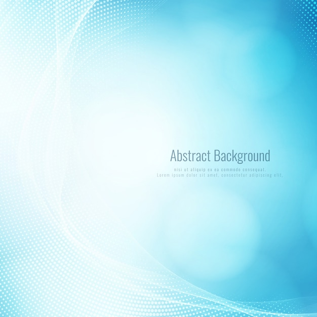 Abstract stylish blue wave modern background Free Vector
