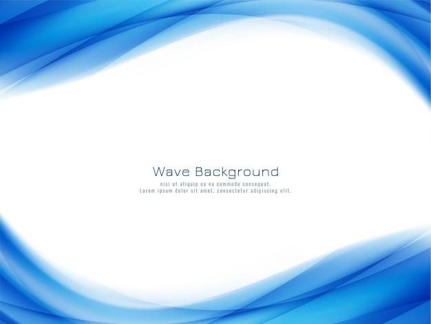 抽象的なスタイリッシュな青い波 無料ベクター