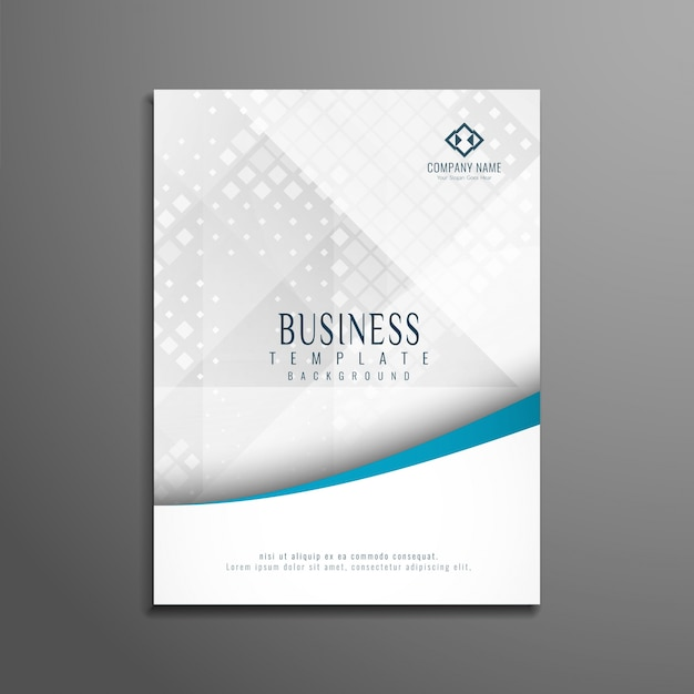 Abstract stylish business brochure template Free Vector